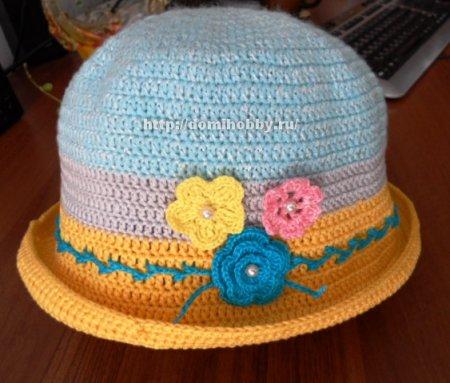 Летняя шляпка крючком (7 фото)