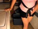Basement black skirt pee