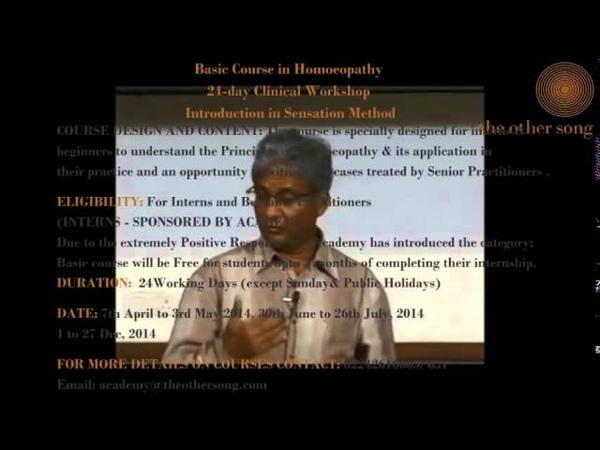 Dr. Rajan Sankaran's Seminar on Sensation Method Part I