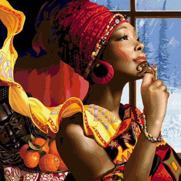 СХЕМА ВЫШИВКИ «АФРИКАНКА»