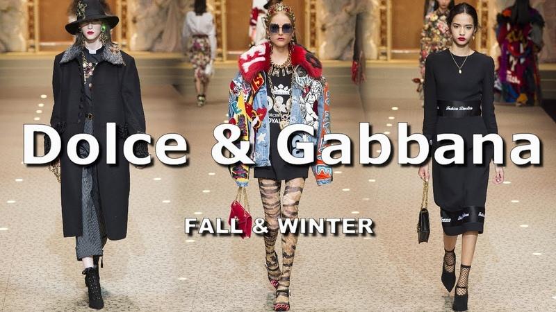 Dolce Gabbana Осень-Зима 2018/2019 Показ моды / Одежда, обувь, сумки и аксессуары