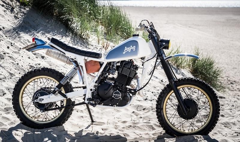 RH Motorcycles: кастом Suzuki DR500 Surf Tracker