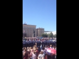 Вальс выпускников-лейтенантов ВУНЦ ВВА ВВС. Площадь Ленина. 23.06.2018 г.