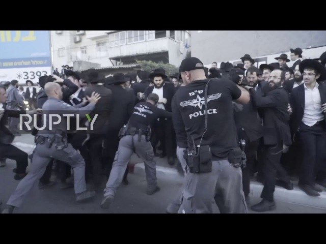 Israel: Police clash with protesters at ultra-Orthodox military draft protest