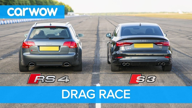 Audi S3 vs RS4 B7 - DRAG ROLLING RACE! Can a 2.0 Turbo Auto beat a 4.2 V8 Manual from 2008?