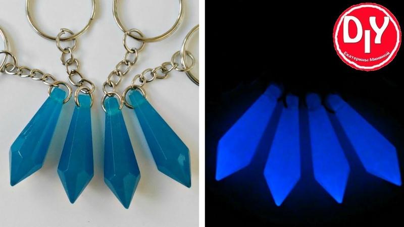 Кристаллы из эпоксидной смолы и люминофора в силиконовых формах своими руками