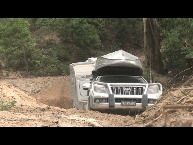 GALL BOYS - TESTING TOYOTA PRADO 150 CRAWL CONTROL - TOWING OFFROAD CARAVAN - 4X4 OFF ROAD TRAILER