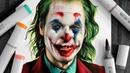 Drawing The Joker - Joaquin Phoenix
