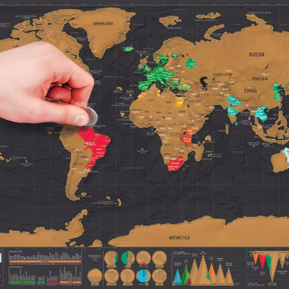 Карта на которой можно отметить страны в которых ты побывал -