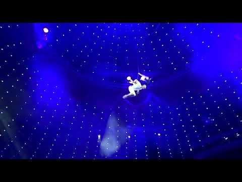 Воздушные гимнасты на ремнях «Жажда полета», Екатерина Абакарова и Валерий Сычев