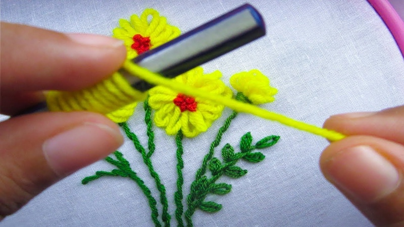 Hand Embroidery, Amazing Trick, Super easy embroidery trick,Crafts Embroidery
