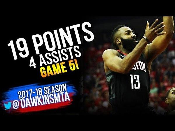 James Harden Full Highlights 2018 WCF Game 5 Warriors vs Houston Rockets - 19 Pts   FreeDawkins