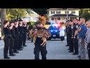 Похороны полицейских собак. Спасибо за вашу службу.