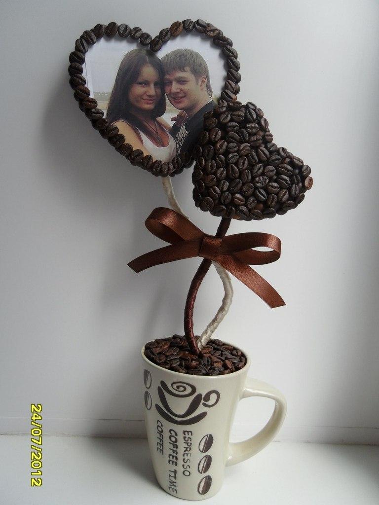 Топиария своими руками из кофейных
