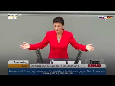 ✔ Вы забыли кем был сожжен Берлин! - Сара Вагенкнехт об отношениях Германии с Россией