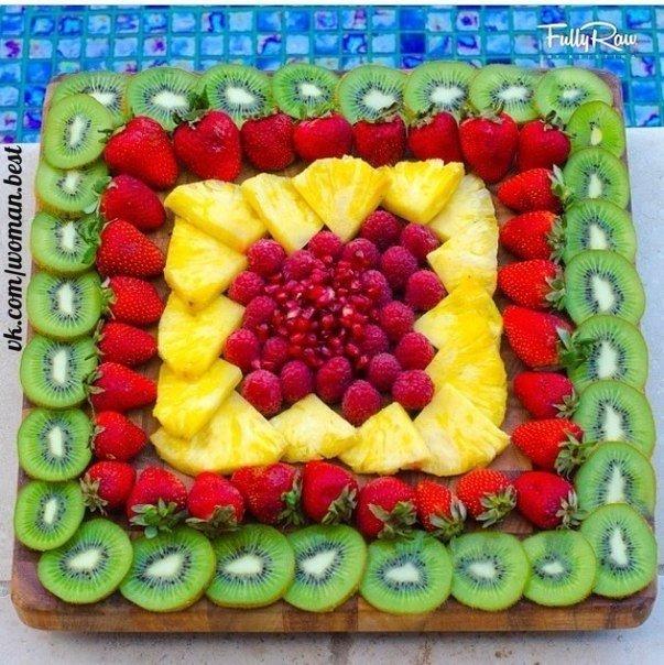 Идеи фруктовых нарезок 🍉🍒🍌