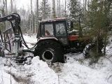 Belarus Mtz 1025 in forest