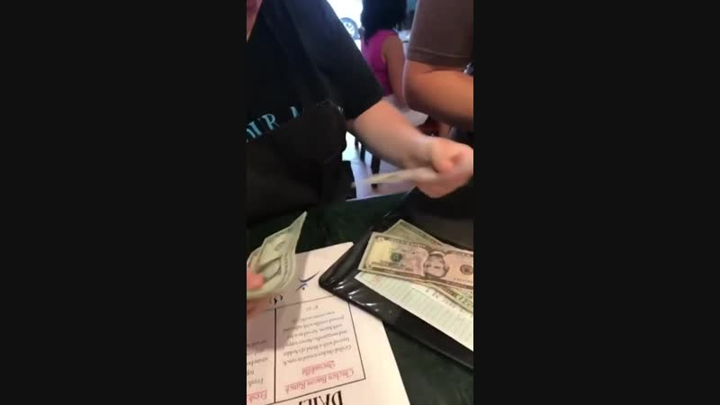 Special needs waitress reacts in amazement after a mysterious dinner leaves her a $112 tip