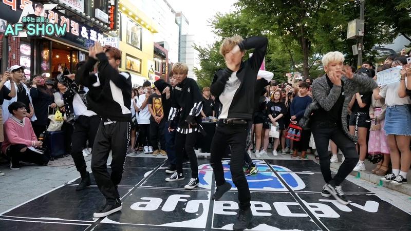 2018/09/08💎EP198💎2 홍대 버스킹 AF SHOW! 남자 아이돌 디크런치(D-Crunch) 난입!! (춤추는곰돌:AF STARZ)