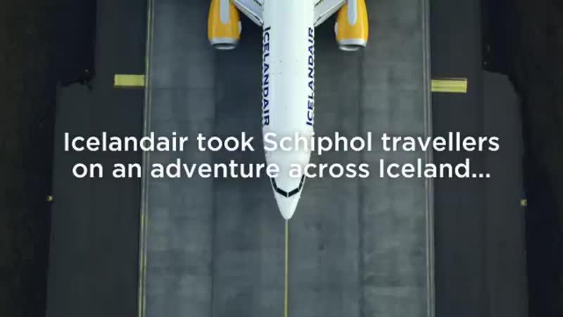 Seeing is believing! Art video by Iceland air.