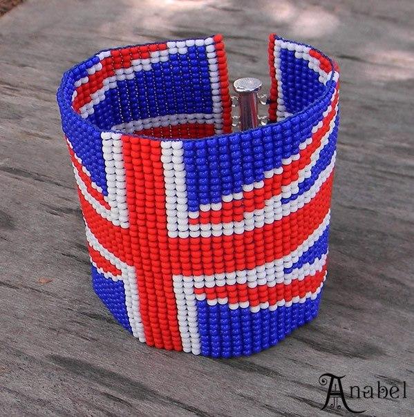 из мулине британский флаг.