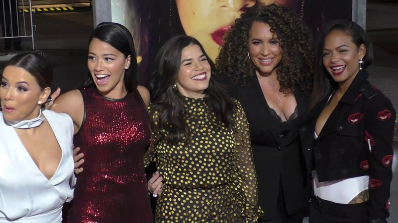 Eva Longoria, Gina Rodriguez, America Ferrera, Diana Maria Riva and Christina Milian at the Miss Bal