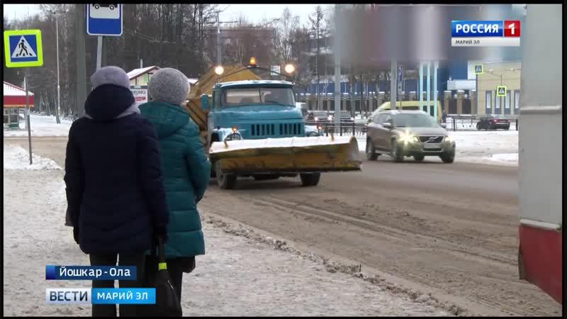 Около 70 единиц спецтехники ежедневно убирают снег на улицах Йошкар Олы