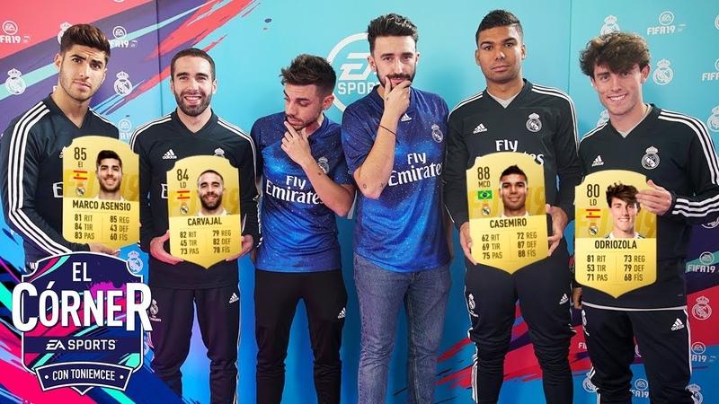 FUTBOLISTAS DEL REAL MADRID SE PONEN SU STATS   EL CÓRNER   FIFA19  