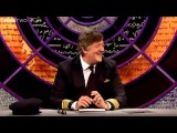 David Mitchell and Victoria Coren arguing with the screens - QI