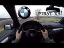 BMW X5 3.0d (2006) POV Test Drive Acceleration 0-200 km/h