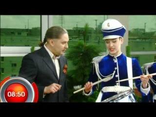 В гостях программы ансамбль мажореток-барабанщиц -
