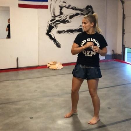 "Paige VanZant on Instagram: ""Haha the face I make mid spin!! PRICELESS 🤗 working some fun ninja kicks."""