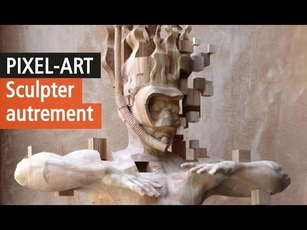 Les incroyables sculptures pixelisées de Hsu Tung Han - Vidéo artiste YouTube