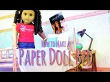 How to Make a Doll Bed Out of Paper | Plus Canopy