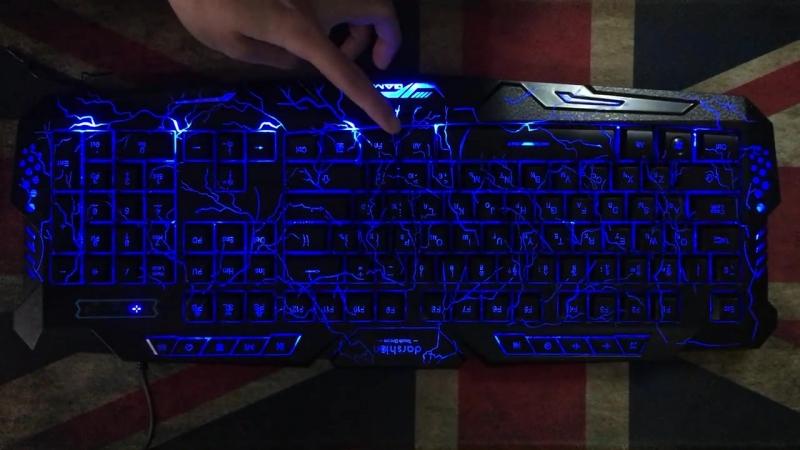 Игровая клавиатура Metoo с подсветкой (LED).
