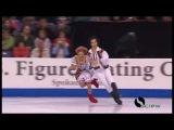 Молдавский народный танец на льду представила пара из Канады
