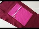 How to sew a zippered pocked ✂ Cómo coser un bolsillo ✂ Jak uszyć kieszonkę na zamek