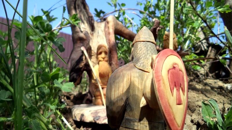Былина Богатырь и змий Саратов Школа резьбы по дереву