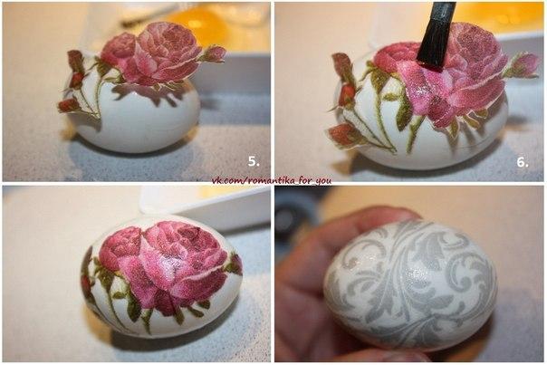 Декупаж пасхальных яиц мастер класс с пошаговым фото