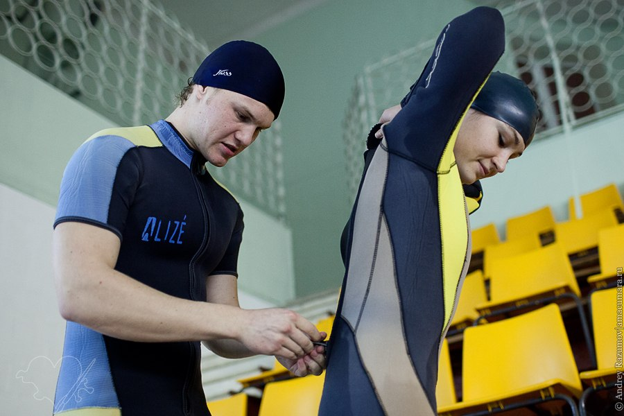 Гидрокостюм для дайвинга дайвер акваланг тренировка