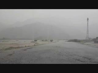 Heavy rain and mountain disappears in East of Makkah, Saudi Arabia ¦ Oct 11, 2018