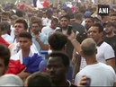 Celebrations on the streets of Paris after France beat Croatia in World Cup Final 2018