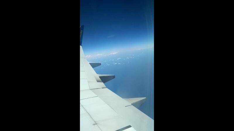 Вид с сомалета взлёт и облака Goose