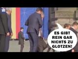 Kein Alkohol! EU Clown Juncker hatte Rücken - NATO-Gipfel 12.07.2018 Jean Claude Juncker not drunk