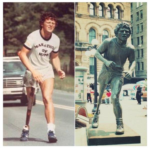 Терри Фокс «Марафон надежды» Фокс родился в Канаде в 1958г. В 1977 году Терри стал чувствовать боль в правом колене, у него был диагностирован рак кости.Медикам пришлось ампутировать ему правую