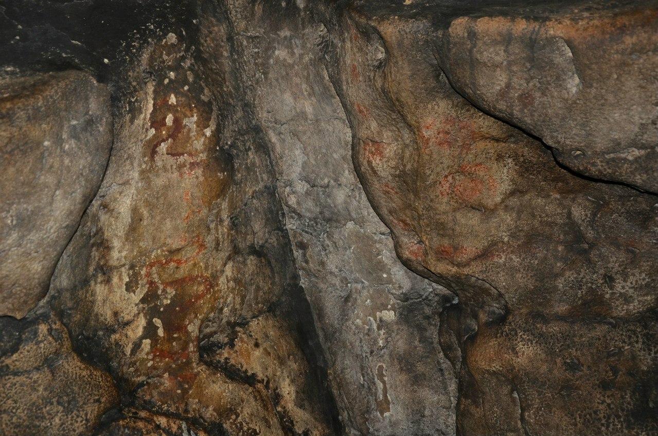 Рисунки древних в Игнатьевской пещере (20.12.2015)