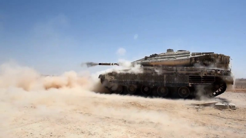 Israel's Merkava MK IV tank shows it's power during live fire exercises