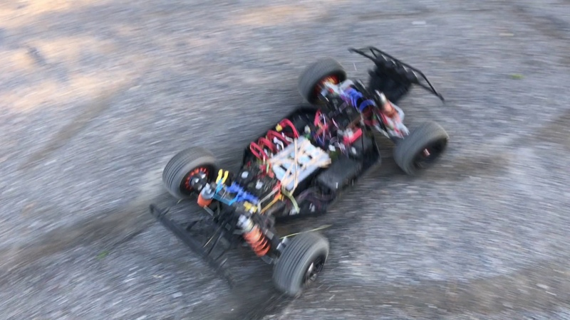 Losi Electric 4x4 playing in the sand box
