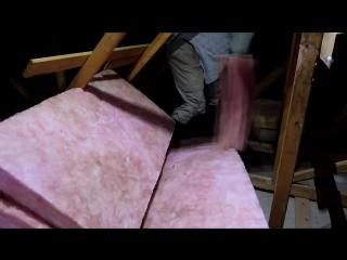 Attic fiberglass insulation spreading rake