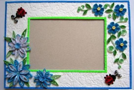 Рамка для фото из картона своими руками мастер класс
